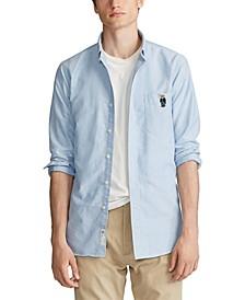 폴로 랄프로렌 Polo Ralph Lauren Mens Classic Fit Bear Oxford Shirt,Blue Bear