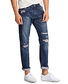 Polo Ralph Lauren Men's Varick Slim Straight Distressed Jeans