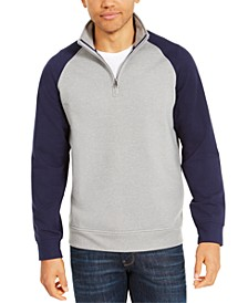 Men's Stretch Colorblocked 1/4-Zip Fleece Sweatshirt, Created For Macy's