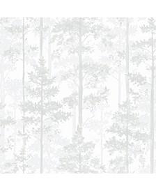"Engblad Co 21"" x 396"" Pine Silhouette Trees Wallpaper"