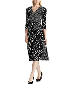Lauren Ralph Lauren Mixed-Print Dress