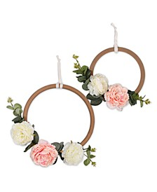 Farmhouse Floral Ring Wall Décor 2-Pack