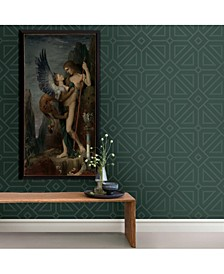 "20.5"" x 396"" Voltaire Dark Geometric Wallpaper"