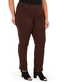 Plus Size Tummy-Control Straight-Leg Jeans, Created For Macy's