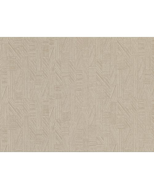 "Warner Textures 27"" x 324"" Kensho Parquet Wood Wallpaper"