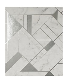 "20.5"" x 369"" Gulliver Marble Geometric Wallpaper"