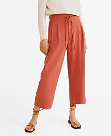 Mango Soft Straight Trousers