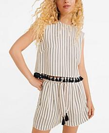 Cotton Striped Shorts