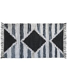 BCBG MaxAzria Leather Navajo Metallic Accent Rug