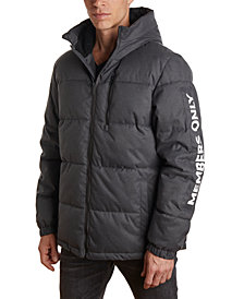 Member's Only Men's Puffer Jacket with Faux Sherpa Lined Hood