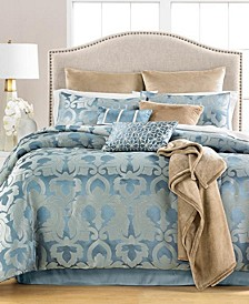 CLOSEOUT! Chateau Antique Filigree 14-Pc. Queen Comforter Set, Created for Macys