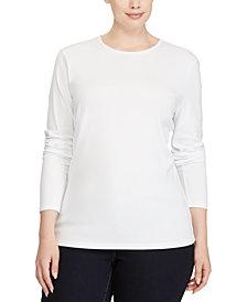 Lauren Ralph Lauren Plus Size Long Sleeve Top