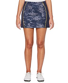 Print-Blocked Golf Skort