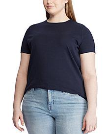 Lauren Ralph Lauren Plus Size Cotton Knit Top