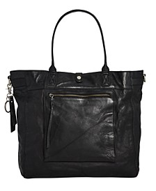 Rubie Washed Leather Tote