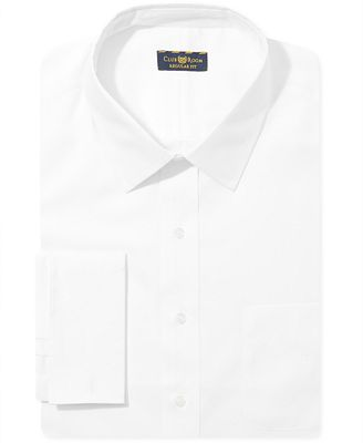 Club Room Estate Big and Tall Wrinkle Resistant White French Cuff ...
