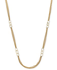 "Link & Multi-Chain Strand Necklace, 42"" + 2"" extender, Created For Macy's"