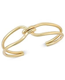 Gold-Tone Intertwined Knot Cuff Bracelet, Created For Macy's