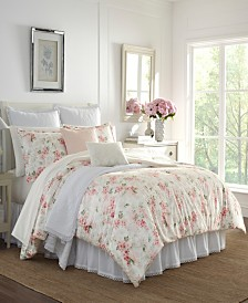 Laura Ashley Wisteria Velour King Comforter Set