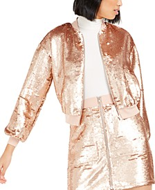 Becca Tilley x Sequin Bomber Jacket, Created For Macy's