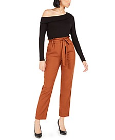 Becca Tilley x Off-The-Shoulder Top and Paper Bag Waist Pants, Created For Macy's