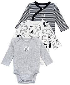 Mac & Moon Baby Boy and Girl 3-Pack Long Sleeve Bodysuits