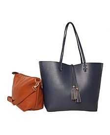Premium Vegan Leather Reversible Tote