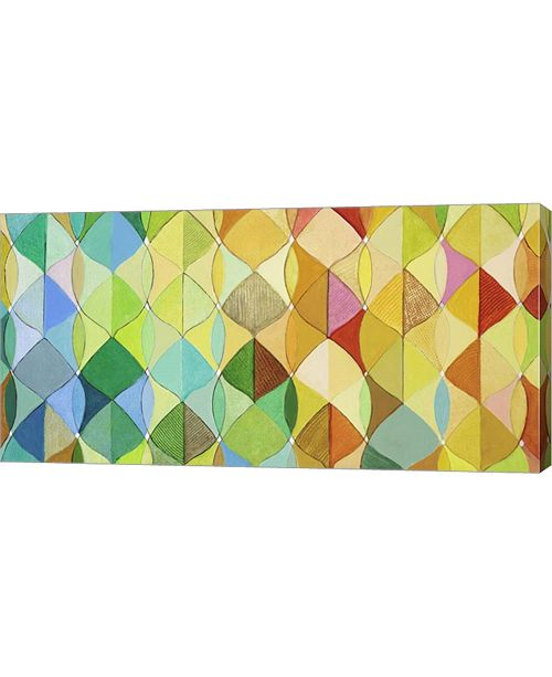 """Metaverse Multicolored Leaves I by Julie Joy Canvas Art, 32"""" x 16"""""""