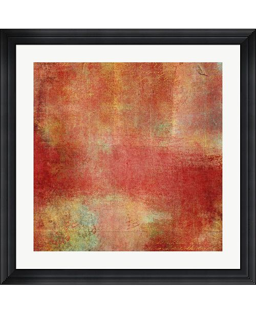 "Metaverse Smooth Red Crush by Marcee Duggar Framed Art, 32"" x 32"""