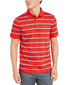 Men's Liquid Cotton Slim-Fit Stripe Polo Shirt