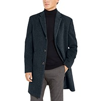 Tommy Hilfiger Addison Wool-Blend Trim Fit Overcoat