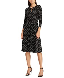 Lauren Ralph Lauren Printed Fit-And-Flare Dress