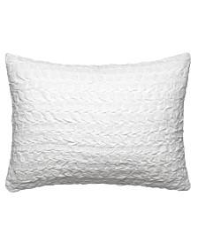 Vera Wang Linear Tucks Crinkle Herringbone Breakfast Pillow