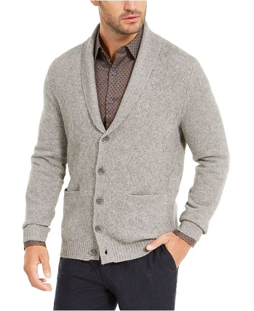Tasso Elba Men's Cashmere Button Cardigan, Created for Macy's