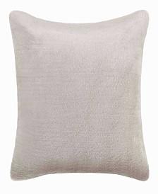 Vera Wang Faux Pelage Grey Square Pillow