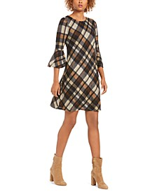 Petite Plaid A-Line Dress