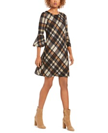Jessica Howard Petite Plaid A-Line Dress