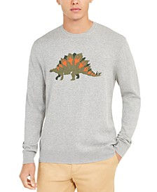Men's Dinosaur Pima Cotton Crew Neck Sweater, Created For Macy's