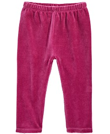 First Impressions Baby Girls Velour Leggings, Created for Macy's