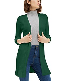 Ribbed Open Cardigan Sweater, Created For Macy's
