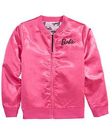 Barbie Big Girls Satin Bomber Jacket