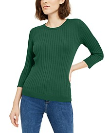 Ribbed Crew-Neck Sweater, Created For Macy's
