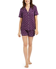 Printed Top & Shorts Pajamas Set, Created For Macy's
