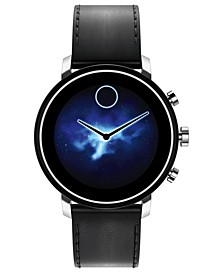 Connect 2.0 Black Leather Strap Touchscreen Smart Watch 42mm