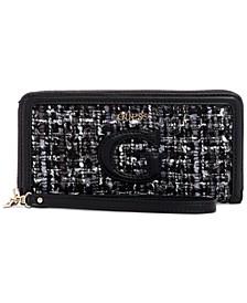 Chrissy Tweed Zip-Around Wallet
