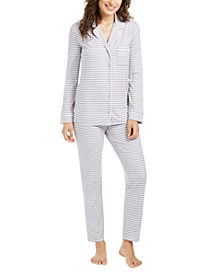 Printed Long-Sleeve Top & Pajama Pants Set, Created for Macy's