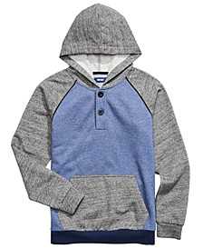 Big Boys Colorblocked Henley Hoodie
