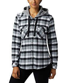 Women's Canyon Point II Cotton Flannel Plaid Hooded Shirt