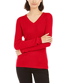 Ivy Cotton Cable Sweater, Created For Macy's