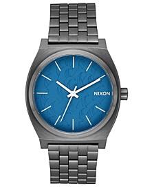 Unisex Time Teller Gray Stainless Steel Bracelet Watch 37mm